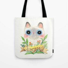 The Siamese Cat Tote Bag