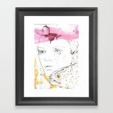 She speaks in bubbles Framed Art Print
