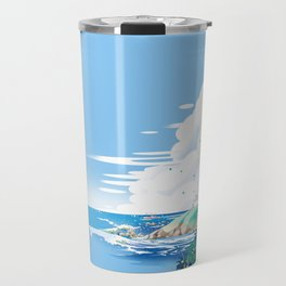 The end of the north, the thoughts are far away in the sea Travel Mug