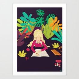 Writing Art Print
