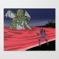 neon genesis evangelion Canvas Prints featuring Neon Genesis Elder God: End of EVA by CaptainSunshine