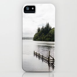 Pines on the edge of Windermere, The Lake District, UK iPhone Case
