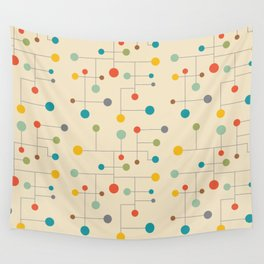 Mid-Century Dots Pattern Wall Tapestry