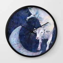 The Cow Jumped Over The Moon - II Wall Clock