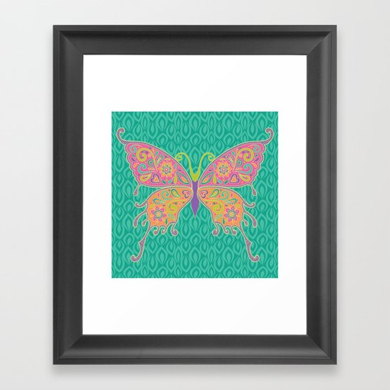 Butterflies Are Free To Fly... Framed Art Print