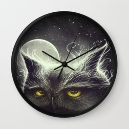 Owl & The Moon Wall Clock