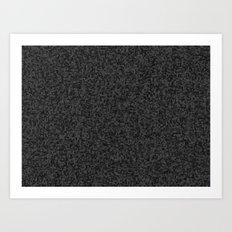 grayscale treemap mosaic - dark Art Print