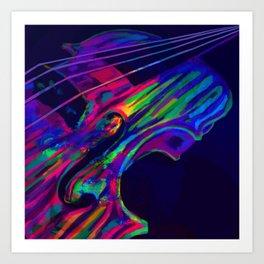 Neon Viola Pride Art Print