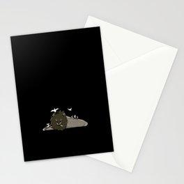 Nella voliera all'ora del pranzo dei leoni -nero- Stationery Cards