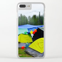 Camping Celebrations Clear iPhone Case