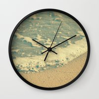 swimming Wall Clocks featuring Swimming by MundanalRuido