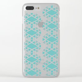 Monlay Turquoise Clear iPhone Case