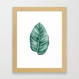 Tropical Leaf watercolour Framed Art Print