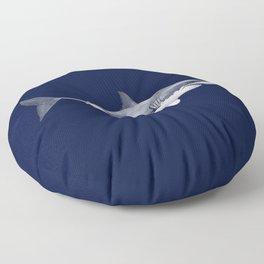 WHITE SHARK (navy blue) Floor Pillow