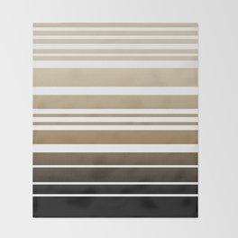 Bay Ombre Stripe: Neutral Throw Blanket