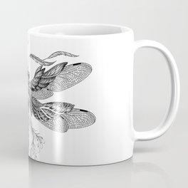 Dragon Fly Tattoo Black and White Coffee Mug