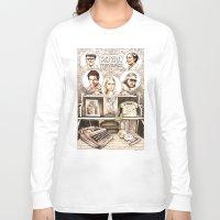 royal tenenbaums Long Sleeve T-shirts featuring The Royal Tenenbaums by Aaron Bir by Aaron Bir