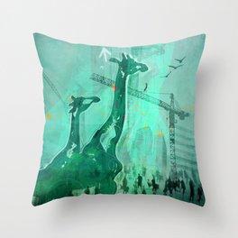Giraffes' eye-view Throw Pillow