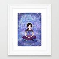 meditation Framed Art Prints featuring Meditation by Art, Love & Joy Designs