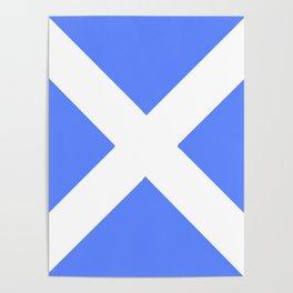 flag of scotland 4– scotland,scot,scottish,Glasgow,Edinburgh,Aberdeen,dundee,uk,cletic,celts,Gaelic Poster