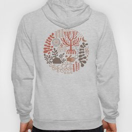 Ethnic Pattern with tribal african symbols. Naive Style Print Hoody