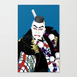 Kabuki actor vector #2 Canvas Print