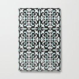Art Nouveau - Peranakan Ebony & Pearl Inlay Metal Print