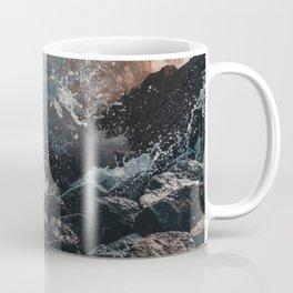 Splashing Waves on Rocks 06 Coffee Mug