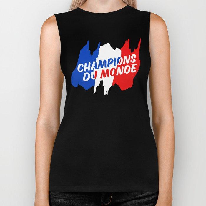 World Champions French Soccer Football Biker Tank