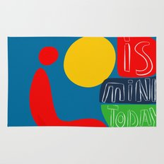 The sun is mine today illustration Rug