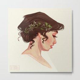 Wedding Hair Metal Print