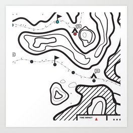Map 1 Art Print