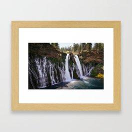 Burney Falls Panorama Framed Art Print