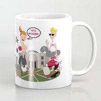 ohio state Mugs featuring Ohio State Love by Sara Riedel