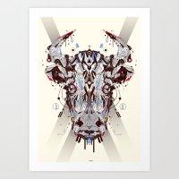chicago bulls Art Prints featuring bulls by yoaz