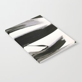 Brushstroke 9: a bold, minimal, black and white abstract piece Notebook