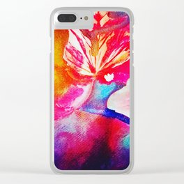 Abstract fall foliage Clear iPhone Case