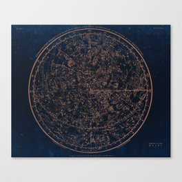 Constellations of the Northern Hemisphere Canvas Print