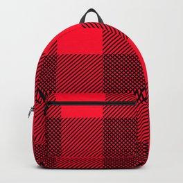DigiPlaid Red Backpack