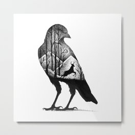 THE CROW AND THE DEER Metal Print