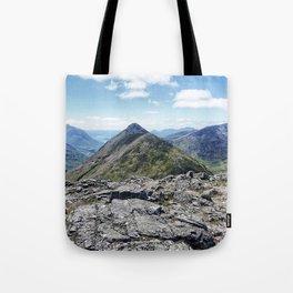 Aonach Eagach from Stob Coire Raineach Tote Bag