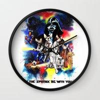 starwars Wall Clocks featuring StarWars Sphynx by Psyca