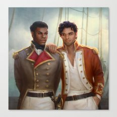 Regency AU - Finn and Poe Canvas Print