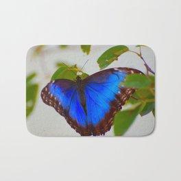 Blue Morpho Buttefly Bath Mat