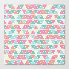 Triangulation (pink and green) Canvas Print