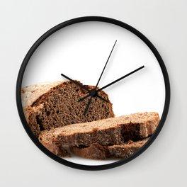 Sliced Black Bread Wall Clock