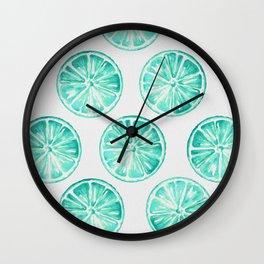 Turquoise Citrus Wall Clock
