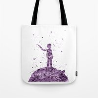 le petit prince Tote Bags featuring Le Petit Prince The Little Prince by Carma Zoe