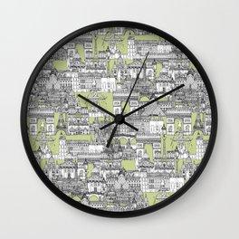 Paris toile eau de nil Wall Clock