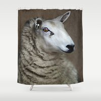sheep Shower Curtains featuring Sheep by ThePhotoGuyDarren